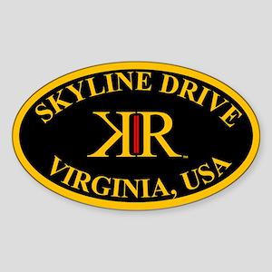 Skyline Drive Road Virginia Tourtag Sticker