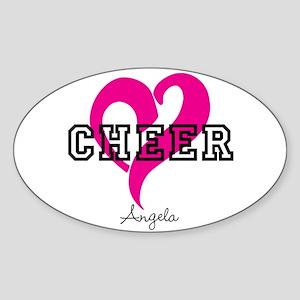 Love Cheer Heart Sticker