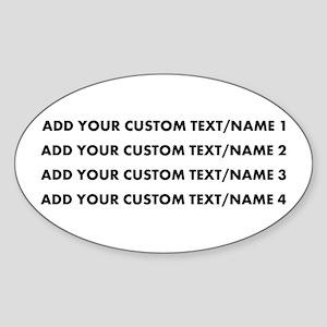 Add Custom Text/Name Sticker