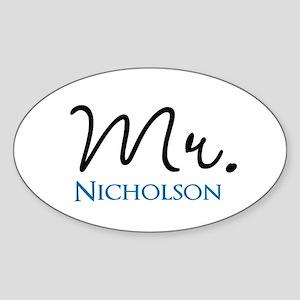 Customizable Name Mr Sticker (Oval)