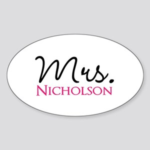 Customizable Name Mrs Sticker (Oval)