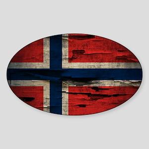 Flag of Norway Vintage Mulitiply Sticker