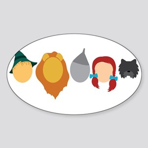 Oz Characters Sticker (Oval)