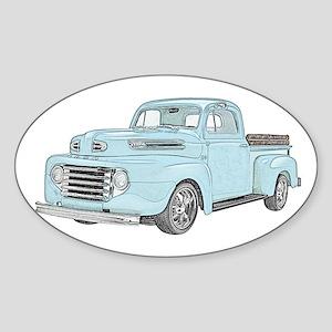 1950 Ford F1 Sticker (Oval)
