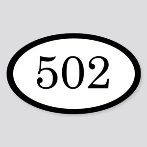 502_bumper Sticker (Oval)