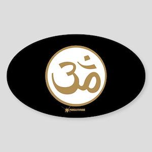 Om (Aum) Oval Sticker