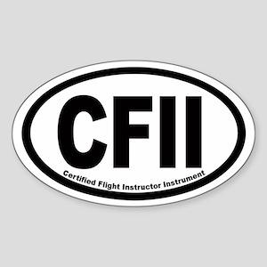 CFII Euro Oval Sticker