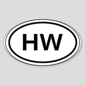 HW Car Oval Sticker