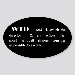 Watch the Director Black Oval Sticker