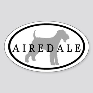 Airedale Terrier Oval #3 Oval Sticker