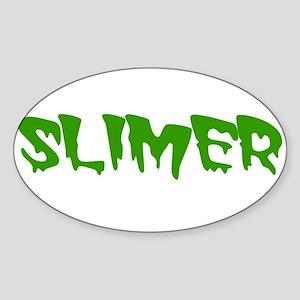 Slimer Oval Sticker