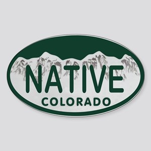 Native Colo License Plate Sticker (Oval)