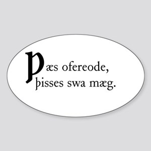 Thaes Ofereode Sticker (Oval)