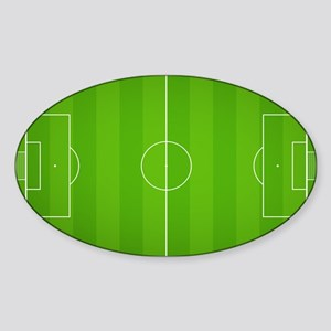Soccer Field Sticker (Oval)
