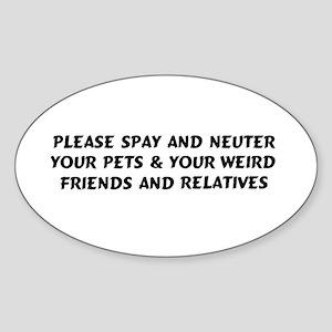 Spay & Neuter Oval Sticker
