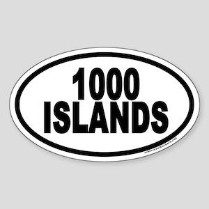 1000 Islands Euro Oval Sticker
