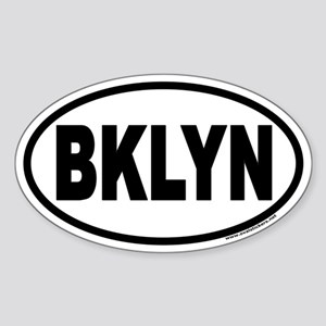 Brooklyn, New York BKLYN Euro Oval Sticker