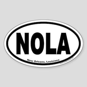 "New Orleans, Louisiana ""NOLA"" Oval Sticker"