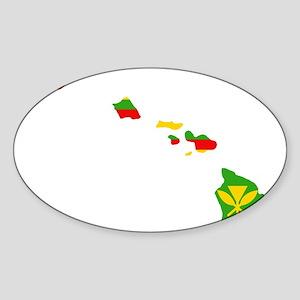 Kanaka Maoli White Stroke Sticker