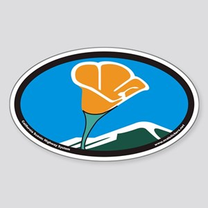 California Scenic Highway System Euro Oval Sticker