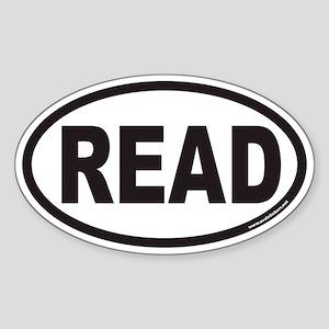 READ Euro Oval Sticker