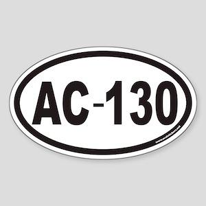 AC-130 Euro Oval Sticker