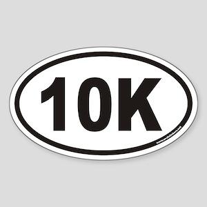 10K Euro Style Oval Sticker