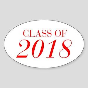 CLASS OF 2018-Bau red 501 Sticker