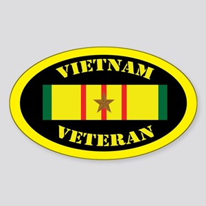 Vietnam Veteran 1 Campaign Star Sticker (Oval)