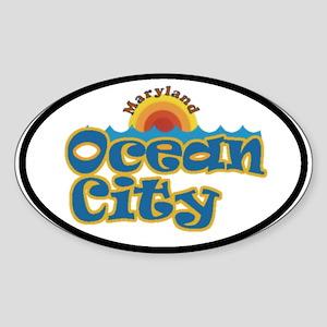 Ocean City MD Oval Sticker