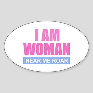 I Am Woman - Hear Me Roar Sticker
