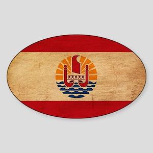 French Polynesia Flag Sticker (Oval)