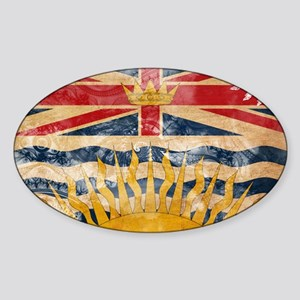 British Columbia Flag Sticker (Oval)