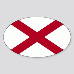 Alabama Flag Sticker (Oval)