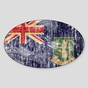 British Virgin Islands Flag Sticker (Oval)