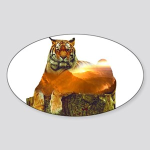 Tiger Double Exposure Sticker