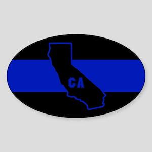 Thin Blue Line - California Sticker