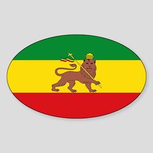 Ethiopia Flag Lion of Judah Rasta Reggae Sticker