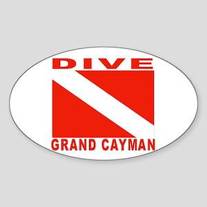 Dive Grand Cayman Oval Sticker