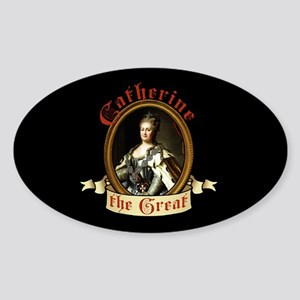 Catherine The Great Sticker (Oval)