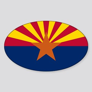 Arizona flag Sticker (Oval)