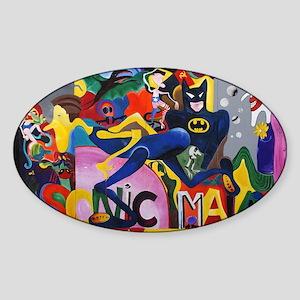 Colorful Sonic Man Graffiti Sticker