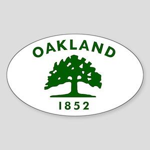 Oakland 1852 Flag Sticker (Oval)