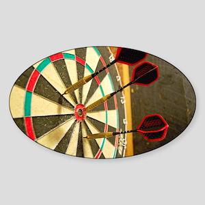 Darts in a Dartboard Sticker