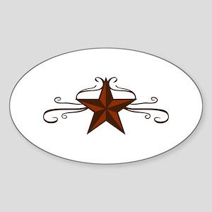 WESTERN STAR SCROLL Sticker