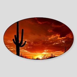 Saguaro Sunset-2 Sticker (Oval)