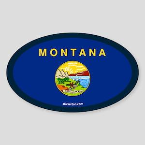 Montana State Flag Oval Sticker