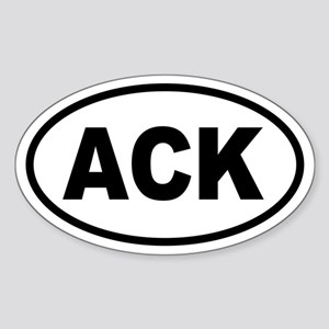 ACK Nantucket Oval Sticker