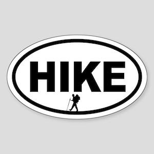 Hiker Oval Sticker
