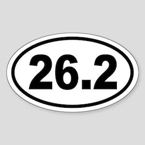 Basic Marathon Oval Sticker